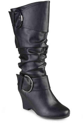 Journee Collection Meme Wide Calf Wedge Boot - Women's