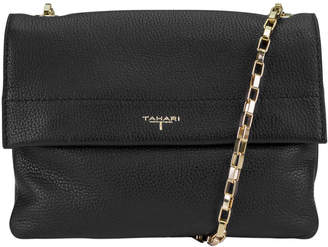 T Tahari Claire Crossbody Leather Flap Bag