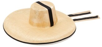 BEIGE Eliurpi - Campana Grosgrain Tie Straw Hat - Womens