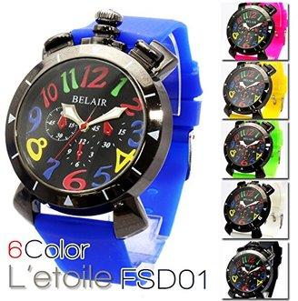 Bel Air Collection FSD01 カラフルインデックスにビビッドカラーのベルト 6色展開 ユニセックス 腕時計