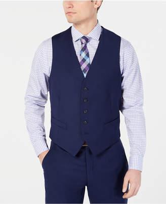 Perry Ellis Men Portfolio Slim-Fit Stretch Navy Solid Suit Vest a3f809e49