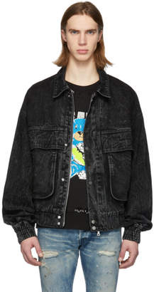 Amiri Black Acid Wash Eighties Trucker Jacket