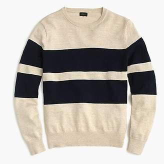J.Crew Slim rugged cotton crewneck sweater in bold stripe