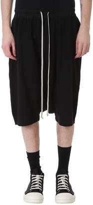Drkshdw Pods Black Cotton Shorts