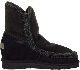 Mou Eskimo Wedge Short Black Boot