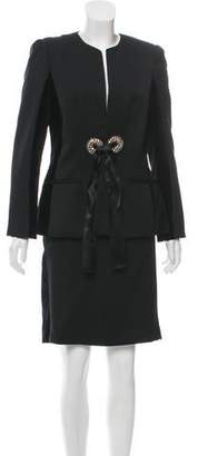 Alexander McQueen Virgin Wool Skirt Suit Set