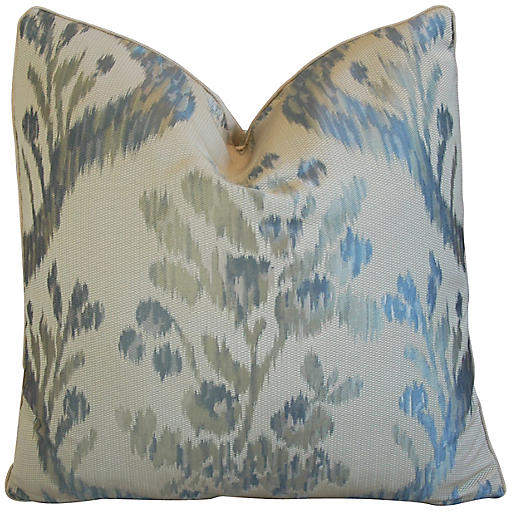 Old World Weavers Jacquard Silk Pillow