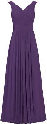 ANTS Formal Straight Straps Long Bridesmaid Dresses Chiffon Prom Gowns Size US