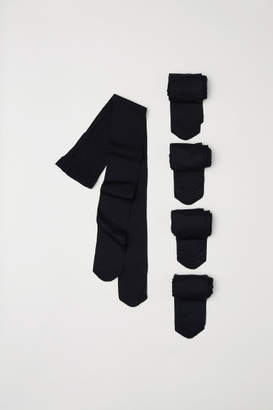 H&M 5-pack tights - Black