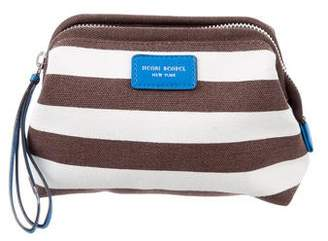Henri Bendel Striped Canvas Cosmetic Bag