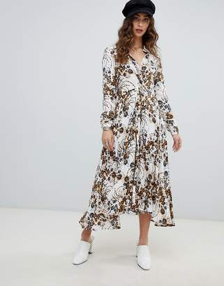 Free People Tough Love floral shirt dress