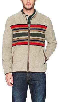 Pendleton Men's Zip-Front Camp Stripe Fleece Jacket