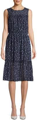 ABS by Allen Schwartz Printed Blouson Dress