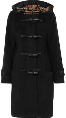 Burberry Hooded Wool-blend Duffle Coat - Black