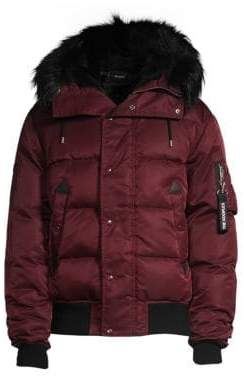 The Kooples Faux Fur Trimmed Puffer Coat