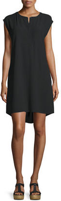 Eileen Fisher Cap-Sleeve Shift Dress, Petite $358 thestylecure.com