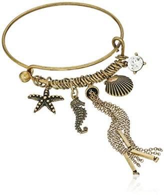 Cara Wire Bracelet with Sea Life Charm Bracelet