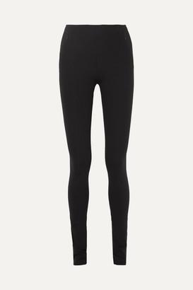 The Row Corza Stretch-scuba Skinny Pants - Black