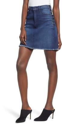 Hudson Jeans Lulu Lace-Up Miniskirt