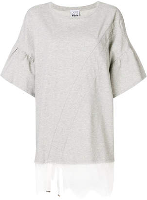 Twin-Set lace trim T-shirt