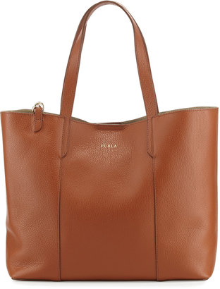 Furla Elle Leather Tote Bag with Detachable Pouch, Cuoio $255 thestylecure.com