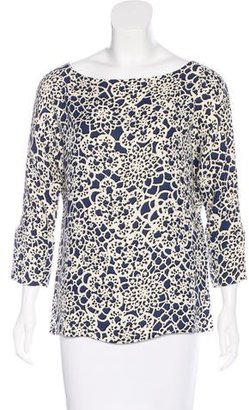 Thakoon Silk Abstract Print Top
