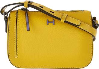 Halston H By H by Pebble & Smooth Leather Mini Crossbody Bag