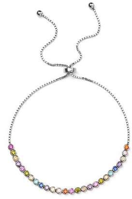 Aqua Multicolor Stone Sterling Silver Slider Bracelet - 100% Exclusive