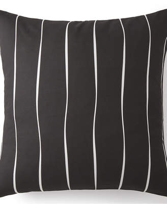 Colcha Linens Toile Back In Black Euro Sham - Black & White Stripe Bedding