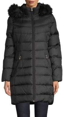 Calvin Klein Faux-Fur Hood Puffer Jacket