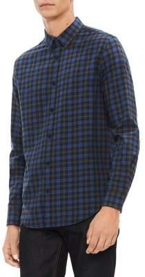 Calvin Klein Brushed Workwear Plaid Shirt