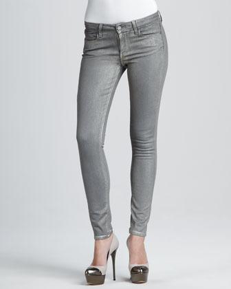 Paige Verdugo Gold Skinny Jeans