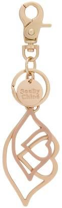 See by Chloe logo charm keyring