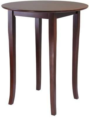 Winsome Fiona Round High Table, Antique Walnut