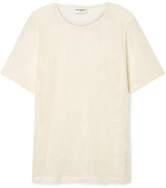 Saint Laurent Cotton-mesh T-shirt