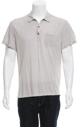 John Varvatos Button-Up Polo Shirt
