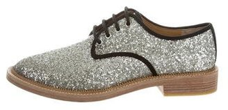 Marc by Marc Jacobs Glitter Round-Toe Oxfords w/ Tags $145 thestylecure.com