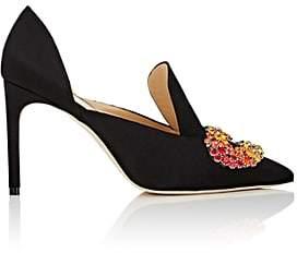 GIANNICO Women's Daphne Satin D'Orsay Pumps - Black