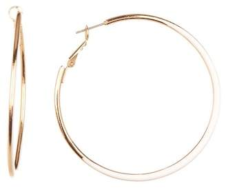14th Union Thin Edge 55mm Enamel Hoop Earrings