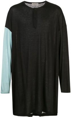 Yohji Yamamoto oversized long-sleeved T-shirt