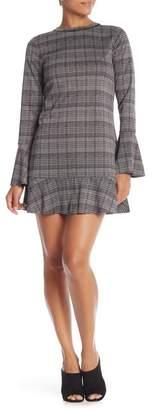 Michael Stars Checkered Flounce Dress