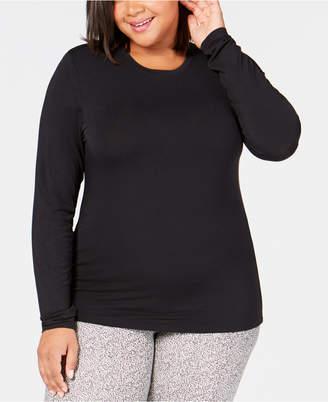 Cuddl Duds Plus Size Softwear Crew-Neck Top