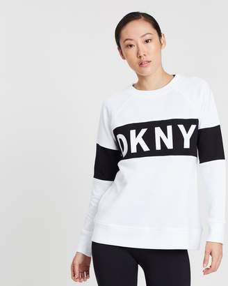 DKNY Colour Block Crew Neck Pullover