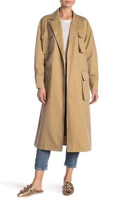 TOV Trench Style Jacket With Waist Belt
