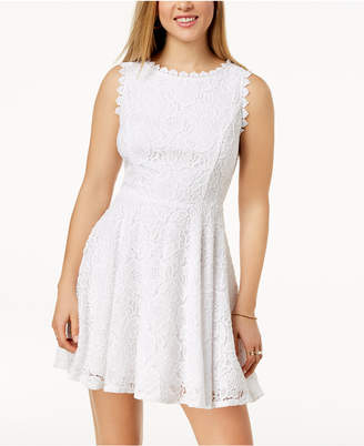 a19eb62a02 White Fit And Flare Dress Juniors - ShopStyle