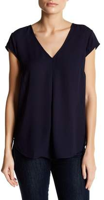 Daniel Rainn DR2 by Cap Sleeve V-Neck Blouse (Petite)