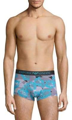 Emporio Armani Printed Stretch Trunks