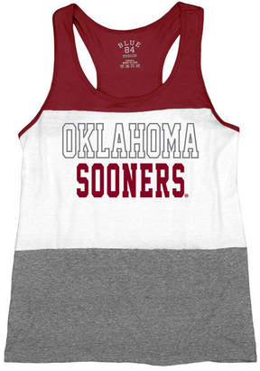 Blue 84 Women's Oklahoma Sooners Racerback Panel Tank Top