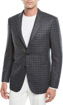 Ermenegildo Zegna Men's Graph Check Two-Button Jacket