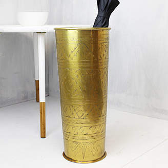Marquis & Dawe Gold Hand Etched Umbrella Stand